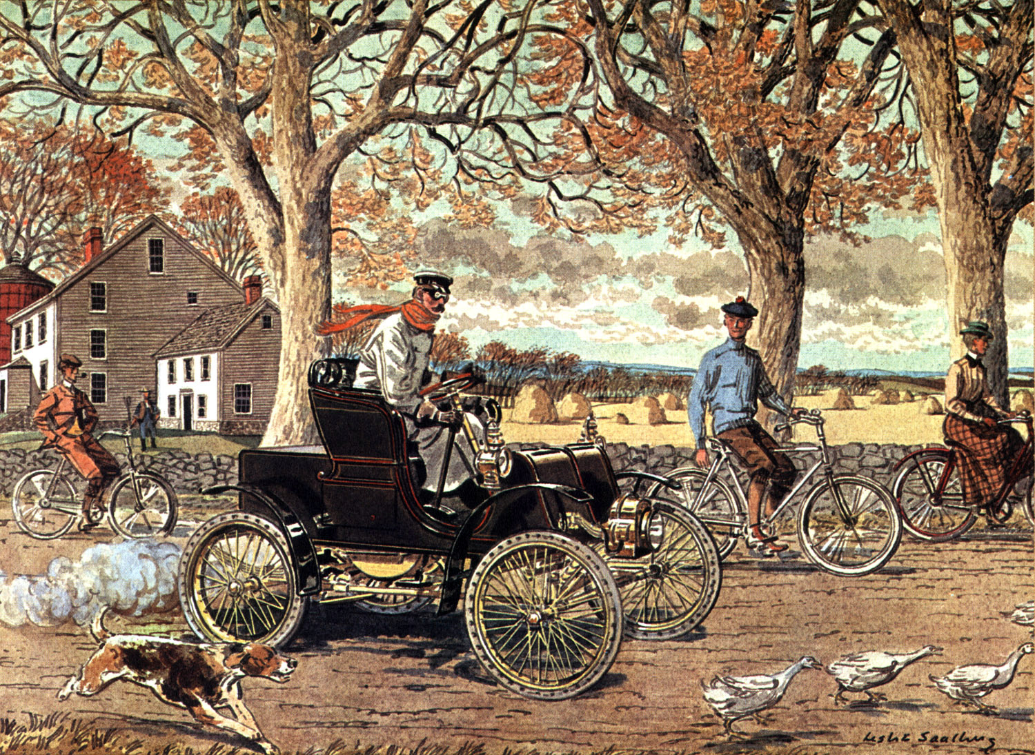 1901 Packard - Illustrated by Leslie Saalburg