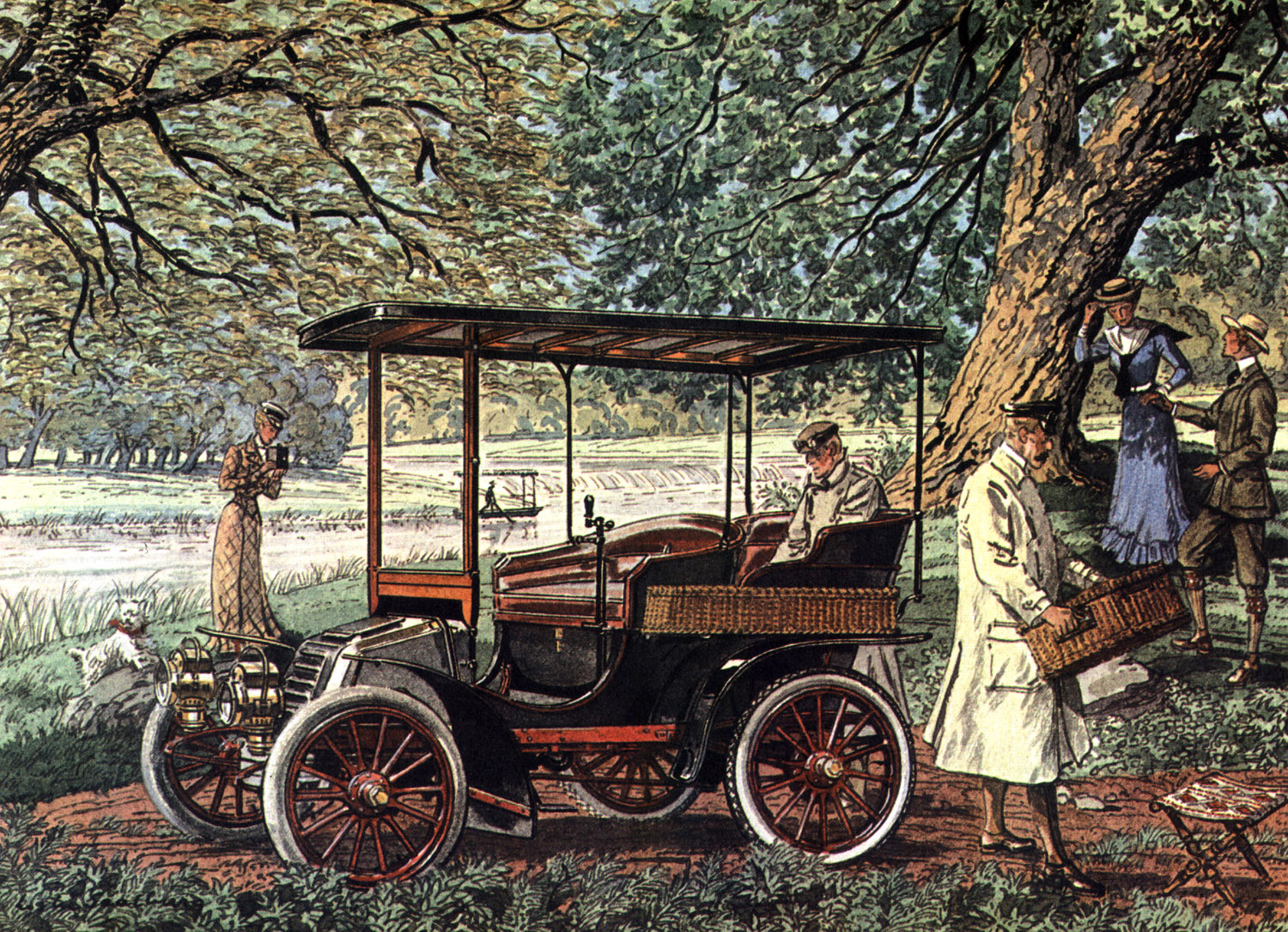 1903 Autocar - Illustrated by Leslie Saalburg