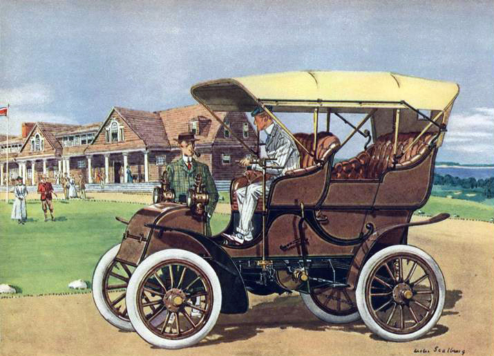 1904 Knox 2 cyl., 16 H.P. Surrey - Illustrated by Leslie Saalburg