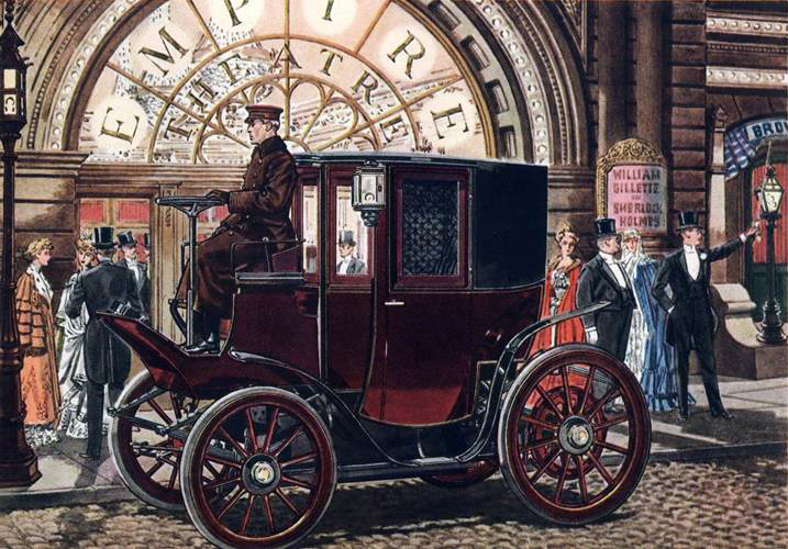 1905 Columbia Extension Front Electric Brougham - Illustrated by Leslie Saalburg