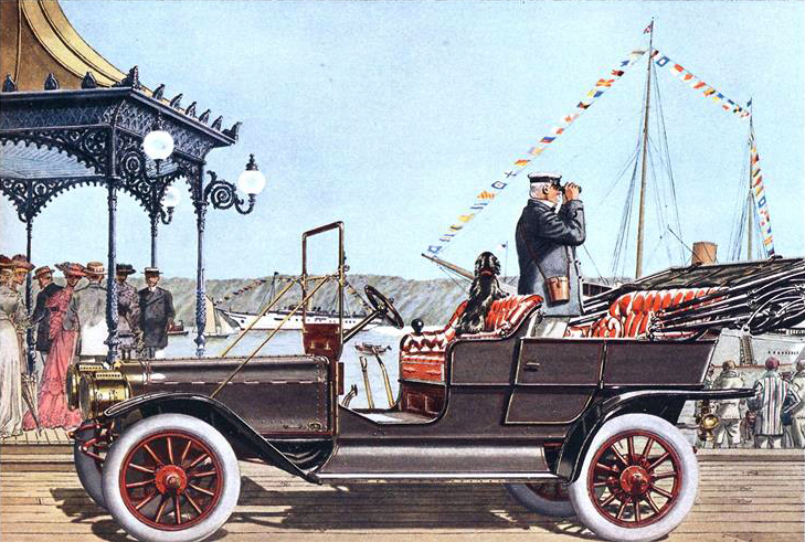 1905 Ford Model K 6 cyl., 40 H.P. Touring Car - Illustrated by Leslie Saalburg