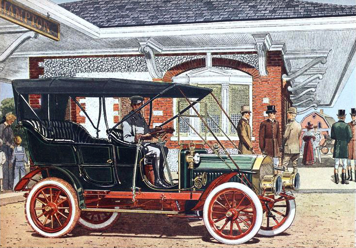 1905 Pierce Great Arrow 4 cyl., 28-32 H.P. Touring Car - Illustrated by Leslie Saalburg