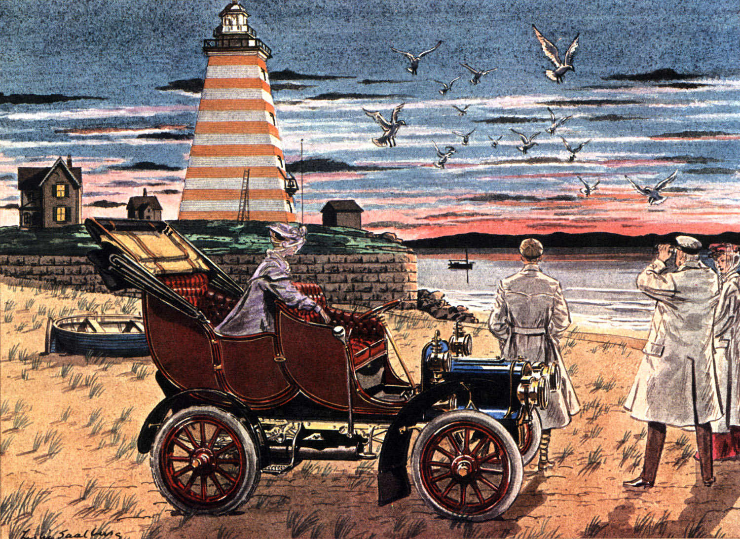 1906 Cadillac - Illustrated by Leslie Saalburg