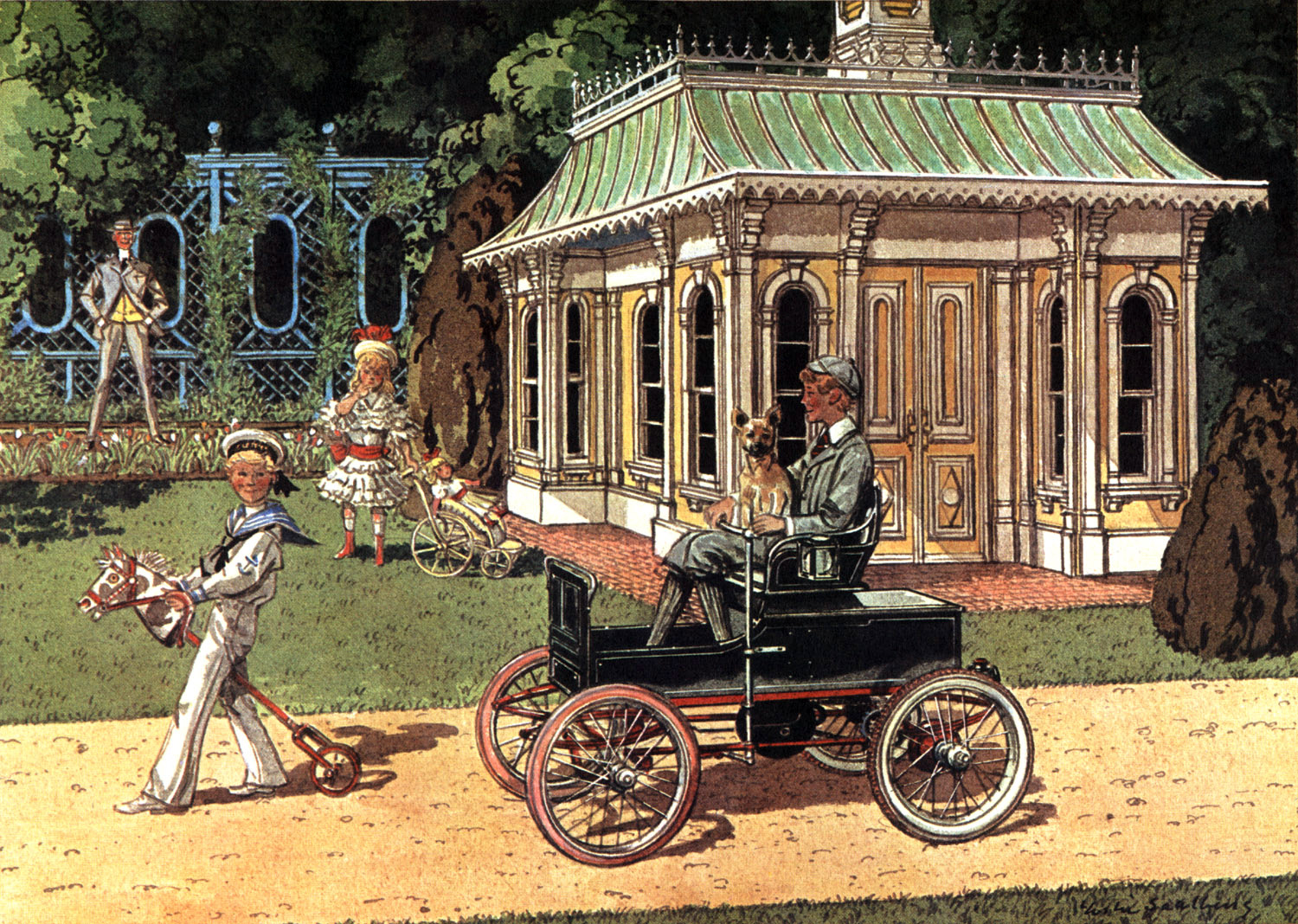 1907 Juvenile Electric Child's Car - Illustrated by Leslie Saalburg