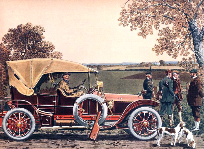 1909 Mercedes 4 cyl., 45 H.P. Touring Car - Illustrated by Leslie Saalburg