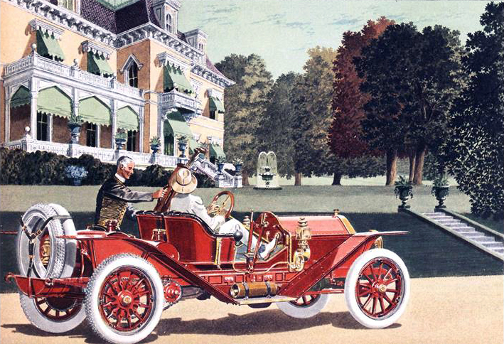 1910 Simplex 4 cyl., 50 H.P. Speed Car - Illustrated by Leslie Saalburg