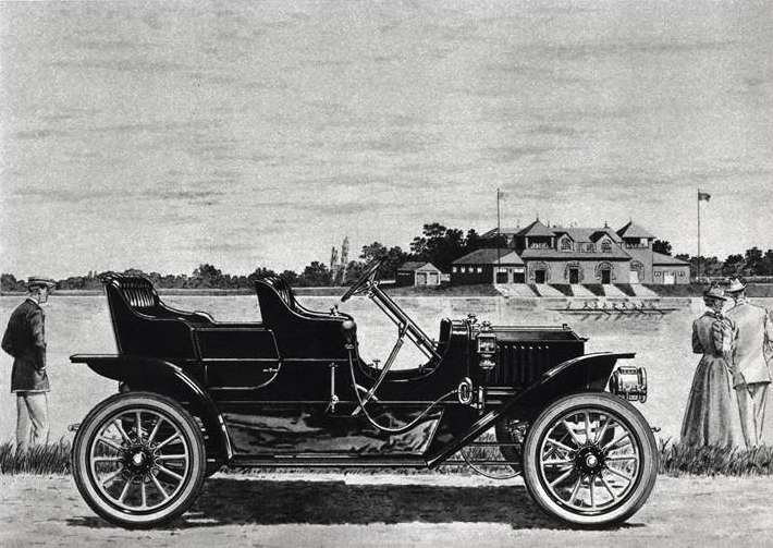 1911 Stanley 2 cyl., 10 H.P. Steam Touring Car - Illustrated by Leslie Saalburg