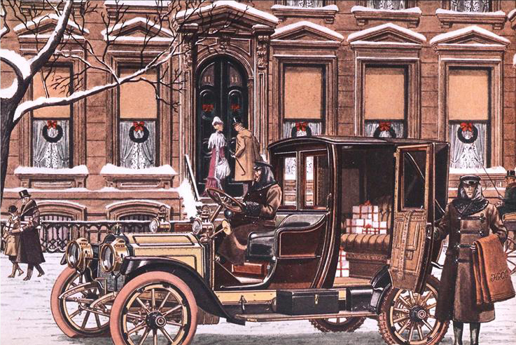 1912 Packard 4 cyl., 18 H.P. Landaulet - Illustrated by Leslie Saalburg