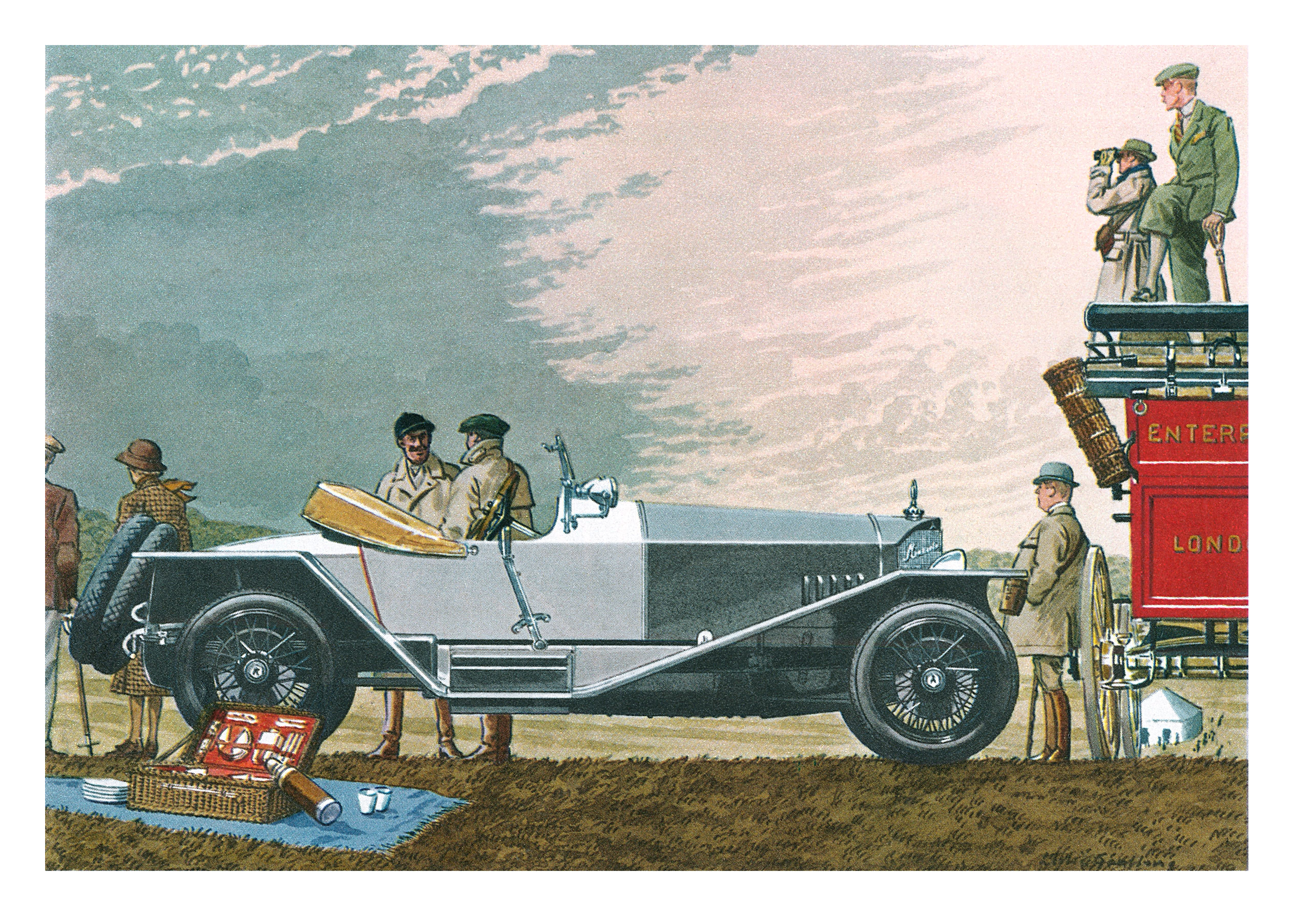 1923 Mercedes Runabout - Illustrated by Leslie Saalburg
