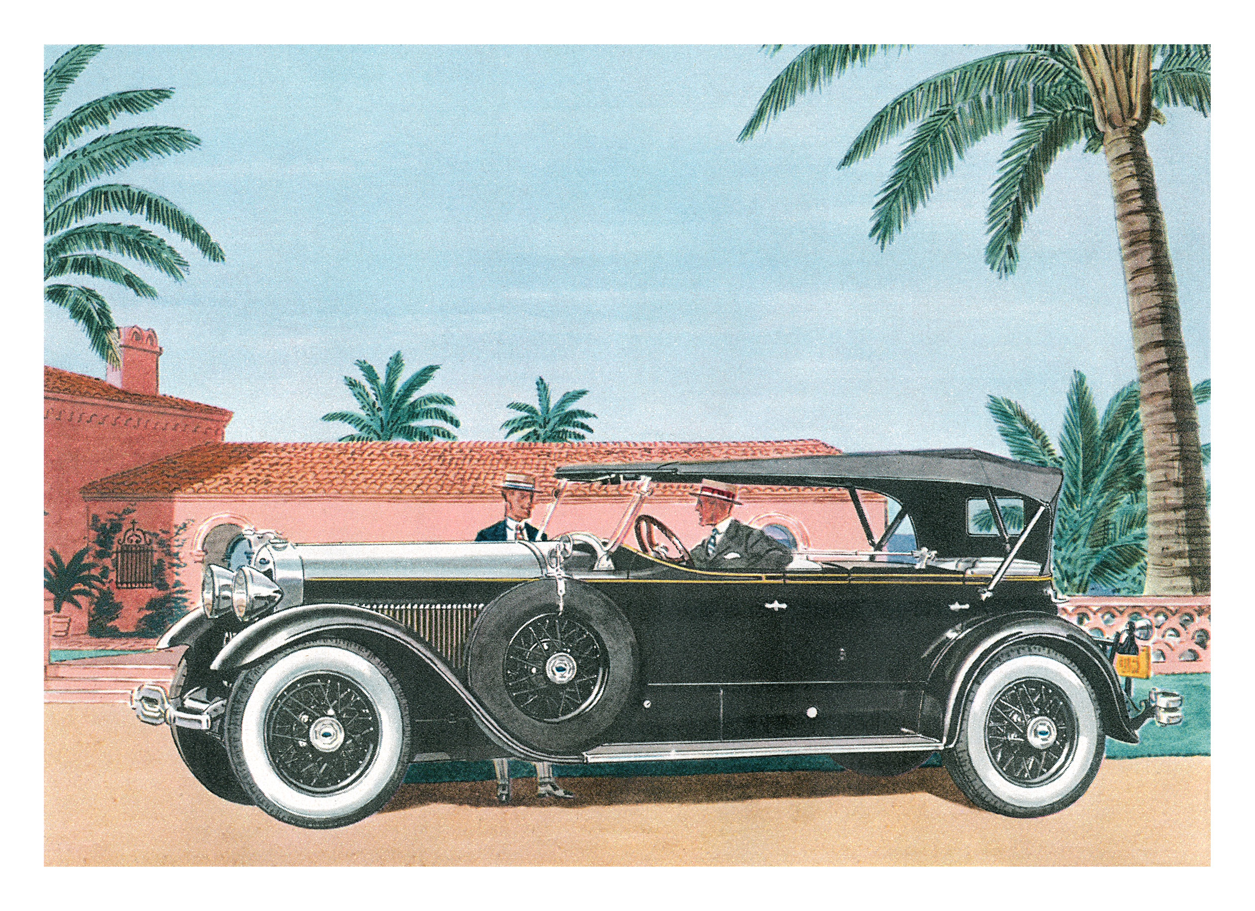 1929 Lincoln Sport Phaeton - Illustrated by Leslie Saalburg