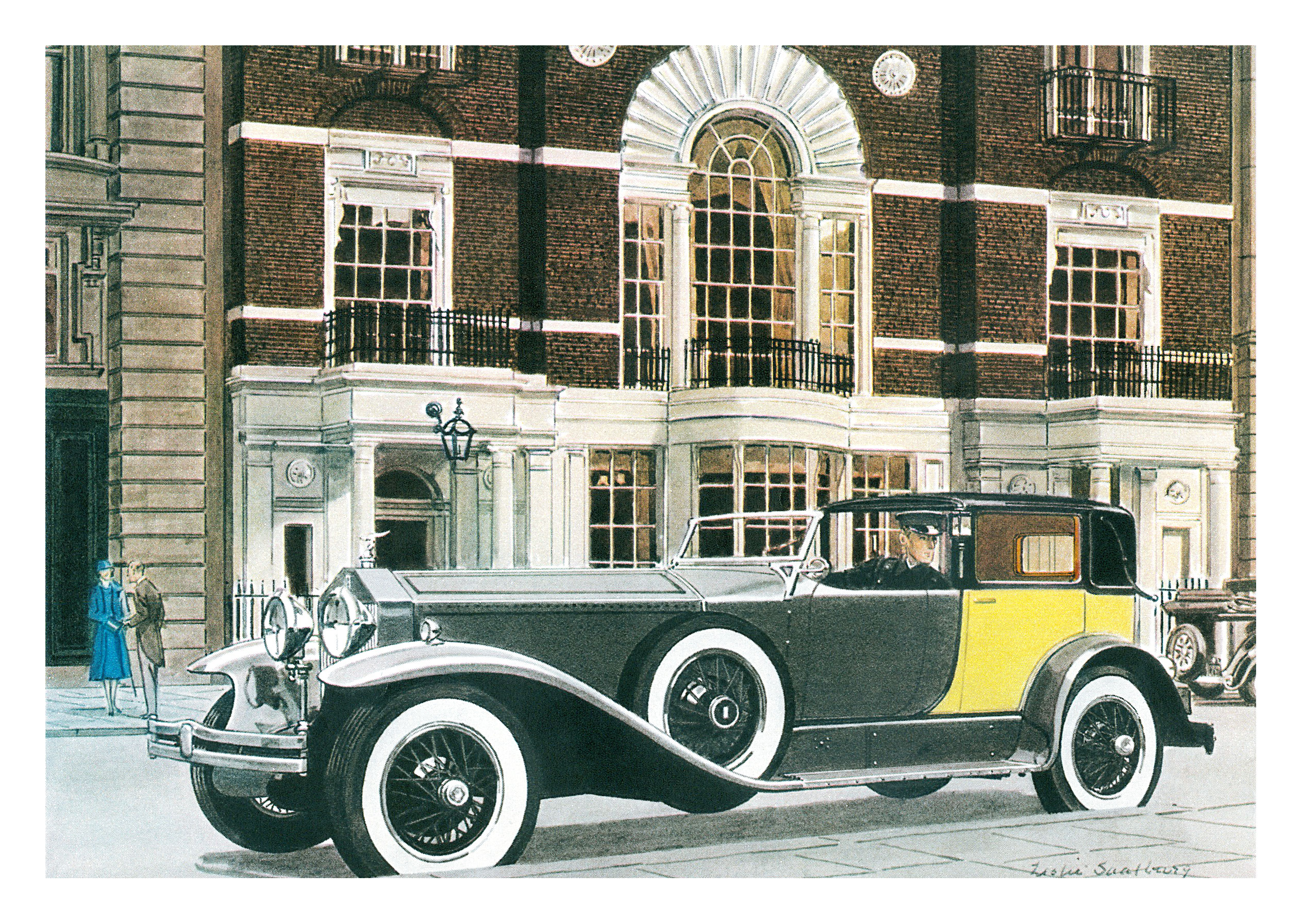 1930 Rolls Royce Phantom Springfield Riviera Brougham - Illustrated by Leslie Saalburg