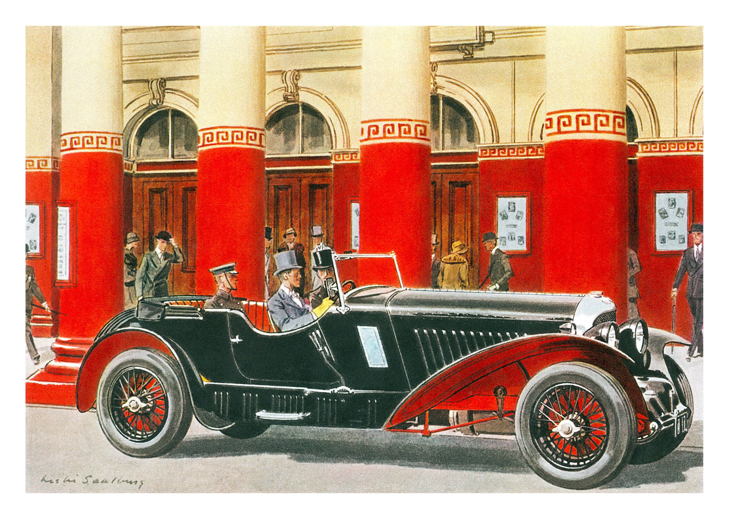 1931 Bentley 4½ Litre Blower Sport Touring with Vanden Plas body - Illustrated by Leslie Saalburg