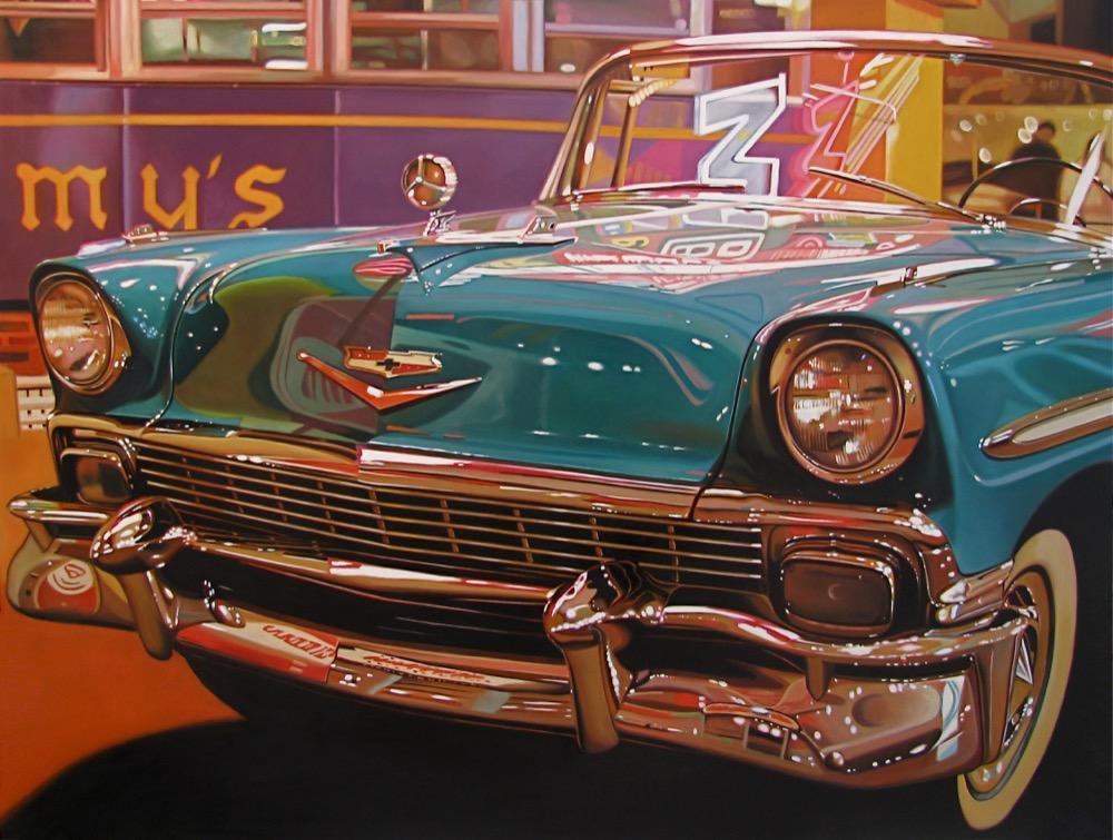 Blue-Chevy-30-x-40
