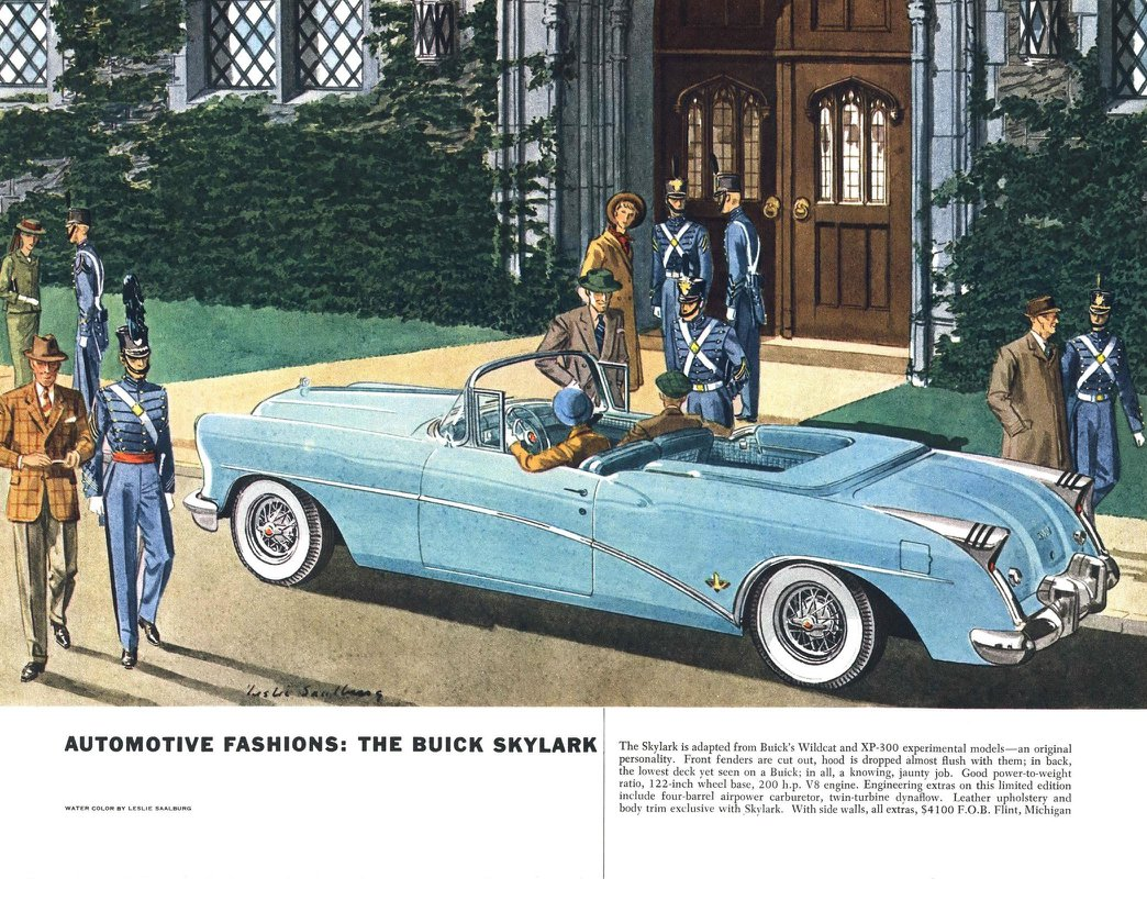 Buick Skylark - Illustrated By Leslie Saalburg