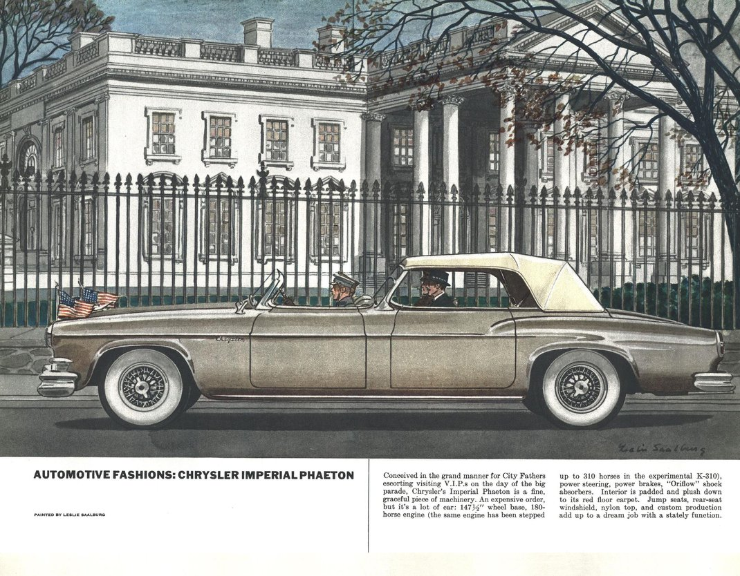Chrysler Imperial Phaeton - Illustrated By Leslie Saalburg