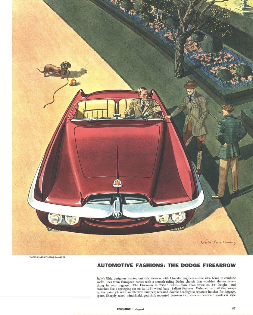 Dodge Firearrow - Illustrated By Leslie Saalburg