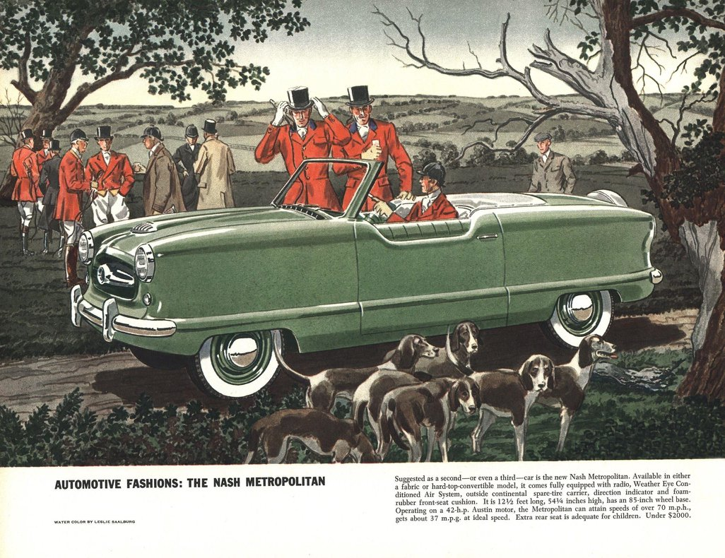 Nash Metropolitan - Illustrated By Leslie Saalburg