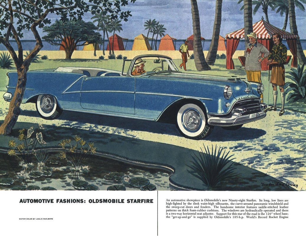 Oldsmobile Starfire - Illustrated By Leslie Saalburg