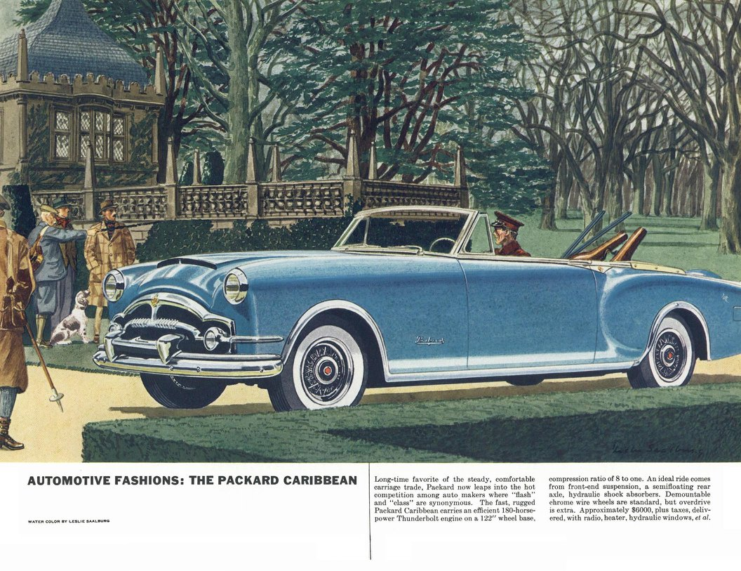 Packard Caribbean - Illustrated By Leslie Saalburg