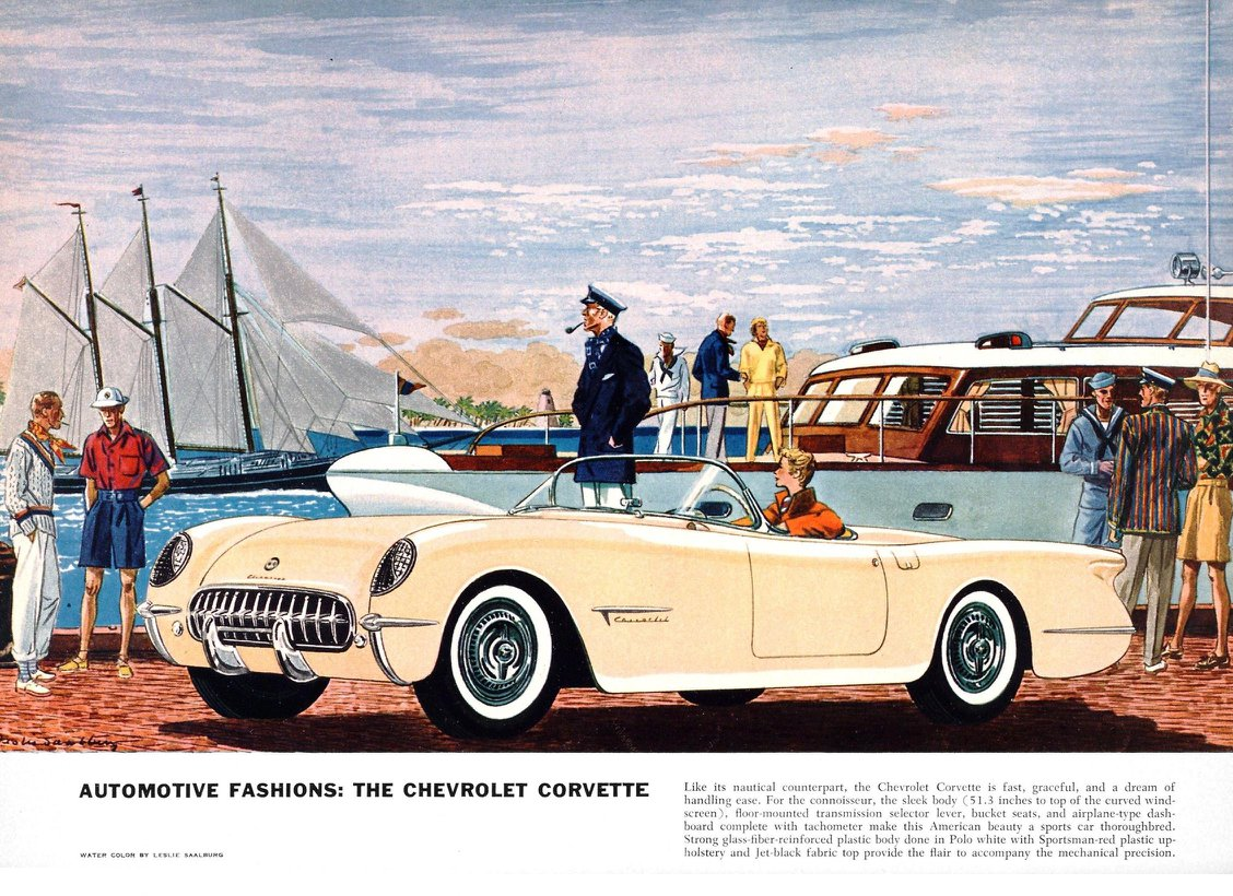 he Chevrolet Corvette - Illustrated By Leslie Saalburg