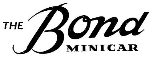 1957. Bond Cars Ltd. (logo)