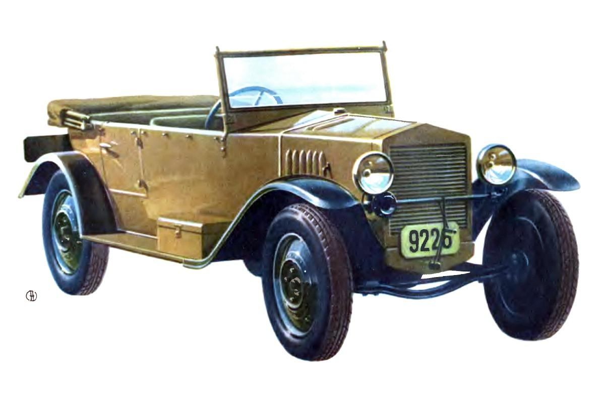 1928-1930. НАМИ-1 (рисунок Eduard-Molchanov-NAMI-1)