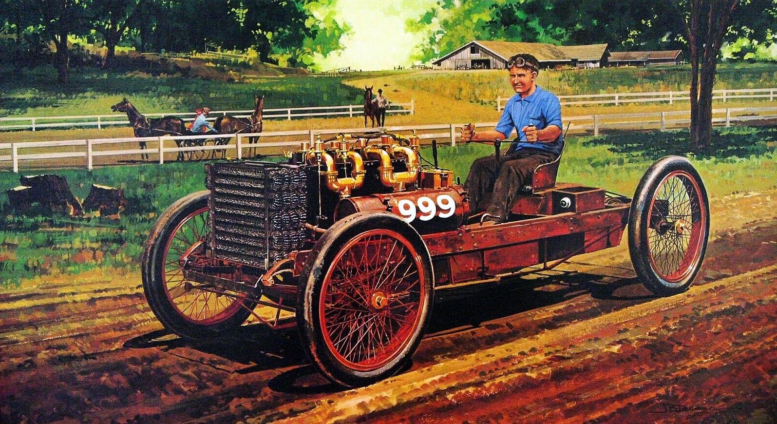 1902. 999 Racer. Illustrated by James B. Deneen