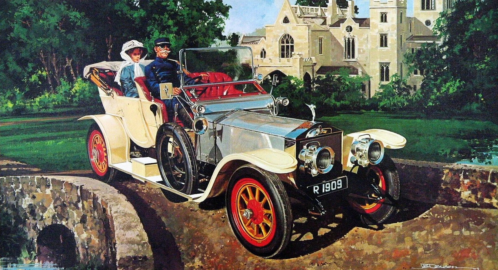 1909. Rolls-Royce Silver Ghost. Illustrated by James B. Deneen