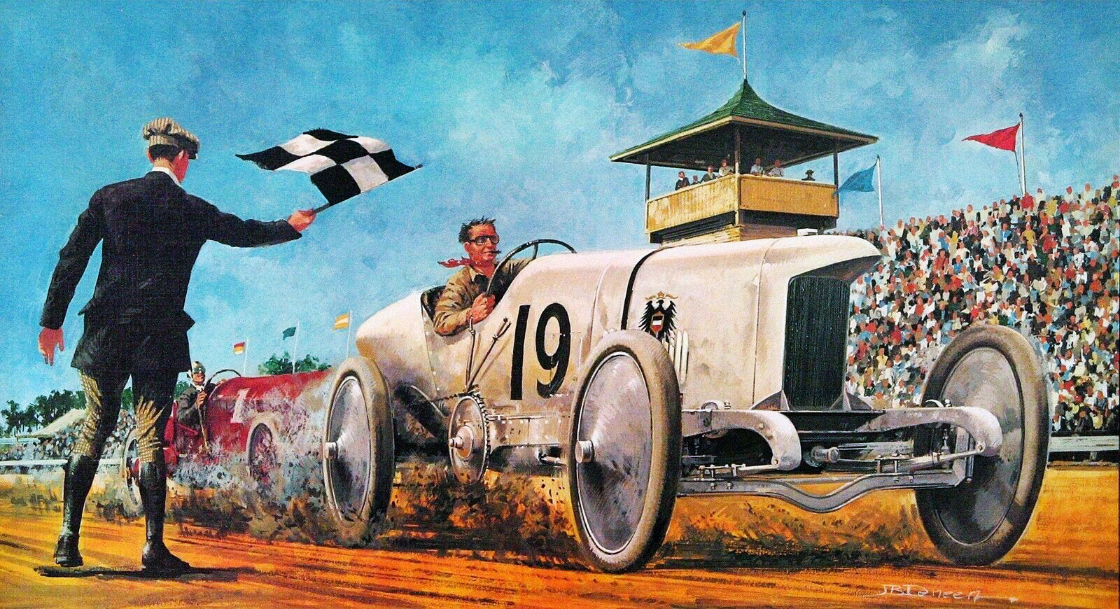 1911. Blitzen-Benz. Illustrated by James B. Deneen