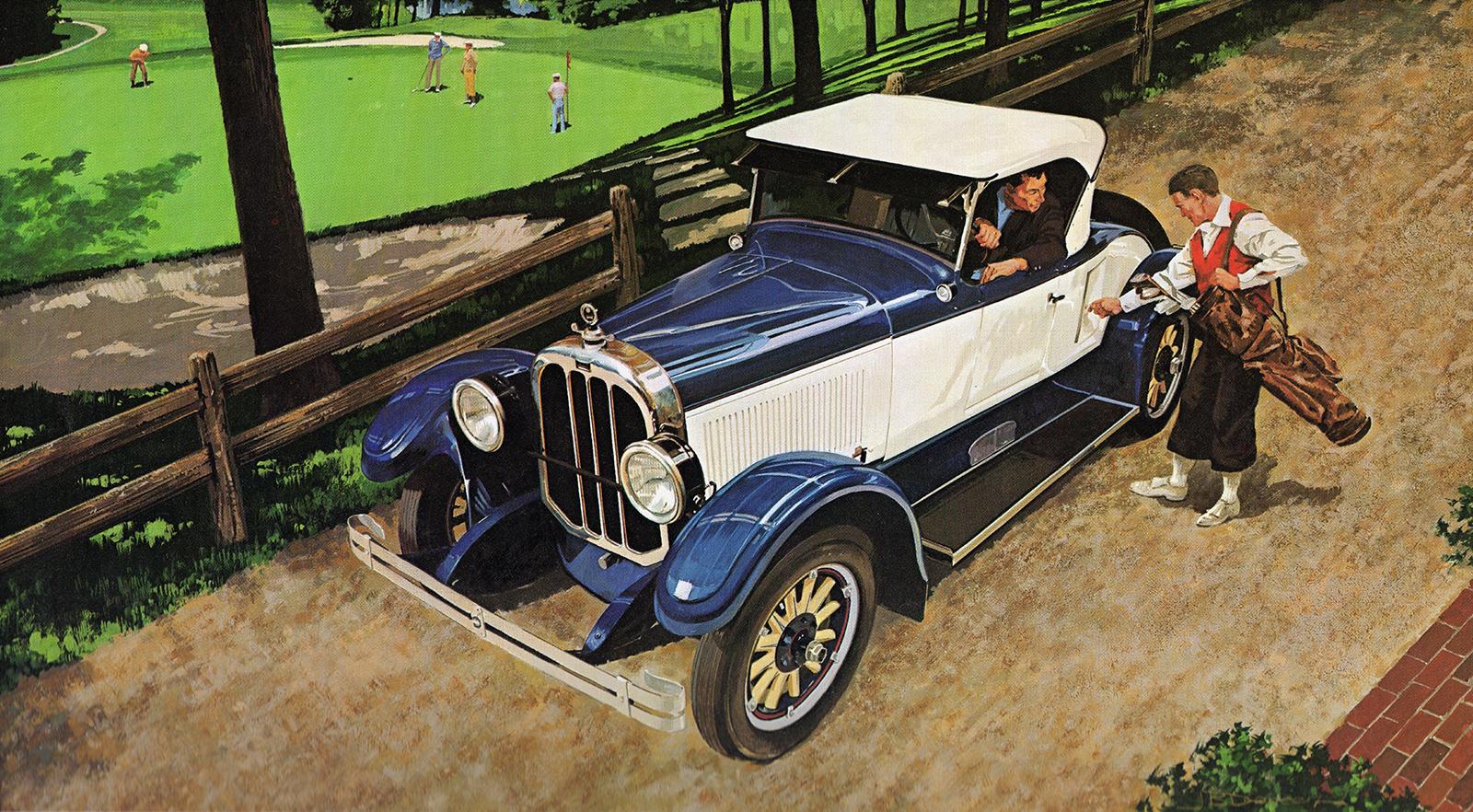 1926. Chandler Comrade Roadster. Illustrated by James B. Deneen