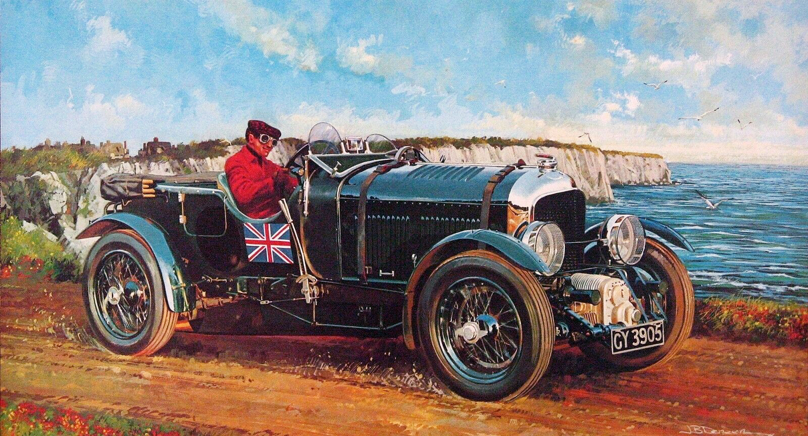 1930. Bentley Blower 4_5 Litre Supercharged. Illustrated by James B. Deneen