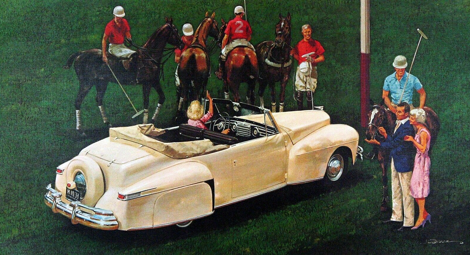 1946. Lincoln Continental. Illustrated by James B. Deneen