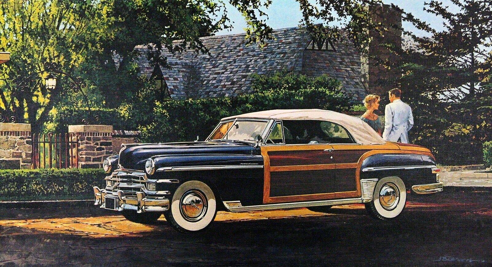 1949. Chrysler Town & Country Convertible. иллюстрированный Джеймс Б. Денин