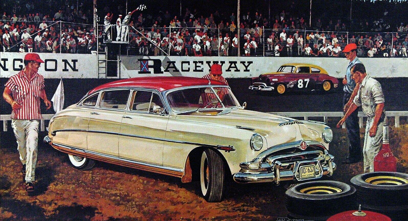 1951. Hudson Hornet. Illustrated by James B. Deneen