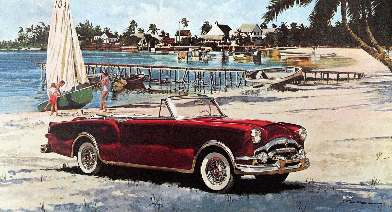 1953. Packard Caribbean. Illustrated by James B. Deneen