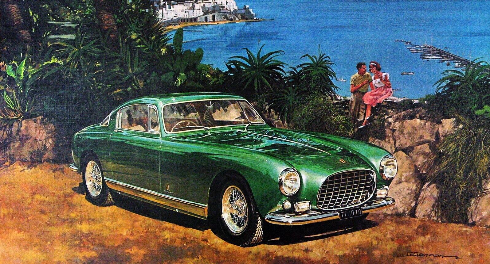 1954. Ferrari 250 Europa. Illustrated by James B. Deneen