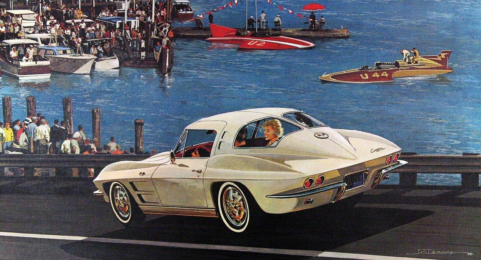 1963. Corvette Sting Ray. Illustrated by James B. Deneen