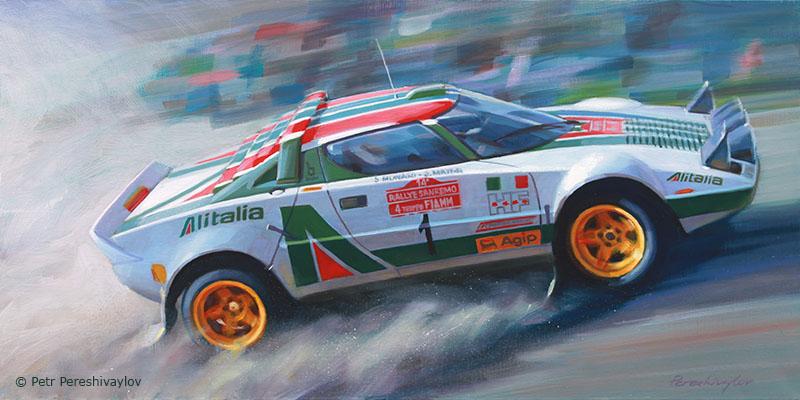 2016. Stratos rallye. 40 х 80 см, масло, холст