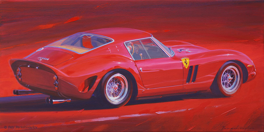 2019. Ferrari 250 GTO. 60 х 120 см, масло, холст
