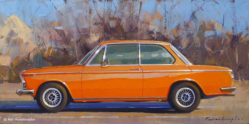 2020. BMW 2002. 30 х 60 см, масло, холст