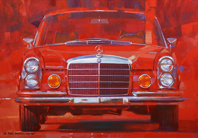 2020. Mercedes-Benz W111. 70 х 100 см, масло, холст