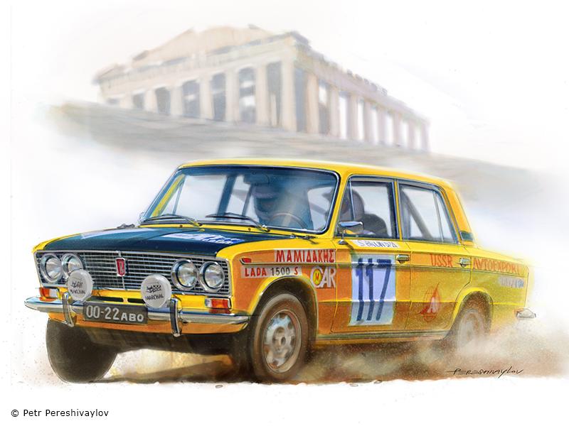 Rally Acropolis '76. Графика для футболок Spezo Style