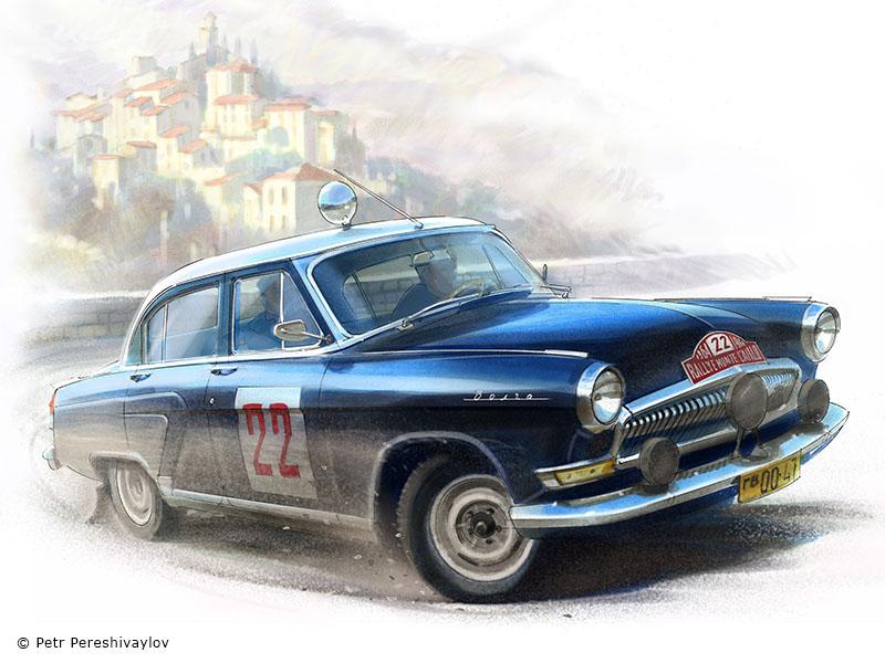 Rallye Monte-Carlo '64. Графика для футболок Spezo Style