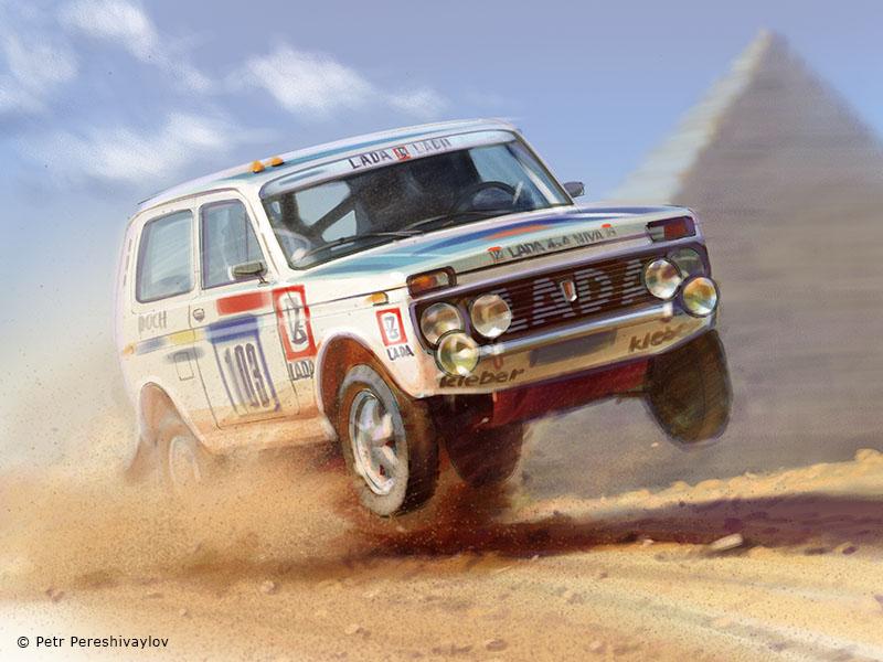 Rallye des Pharaons '82. Графика для футболок Spezo Style
