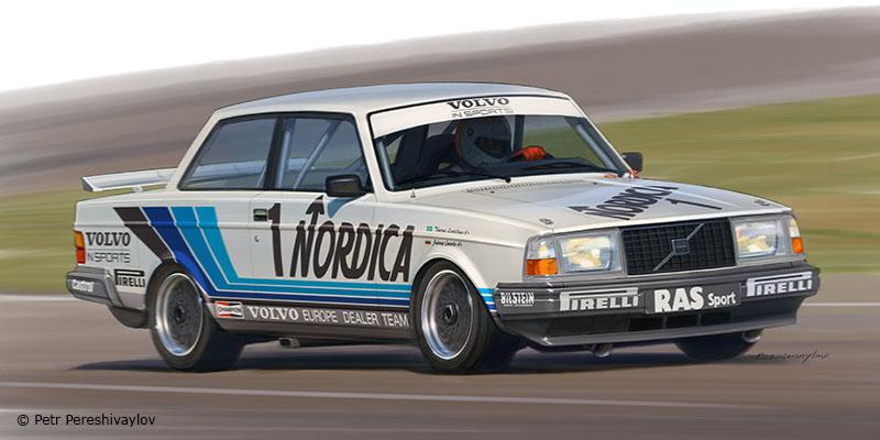 Volvo 240T ETCC 1986. Бокс Арт для Beemax model kits